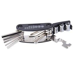 1 PCS 15 in 1 Bicycle Wrench Black Multi Repair Tool Set Mou