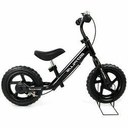 "12"" Black Kids Balance Bike Children Boys & Girls with Brake"
