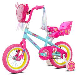 "Peppa Pig 12"" Girl's Bike, Pink, For Height Sizes 2'0"" and U"