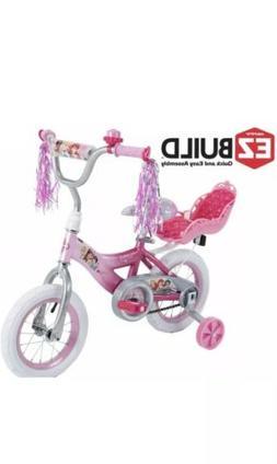 12 Inch Disney Princess Pink Bikes for Girls 7 Year Old Kids