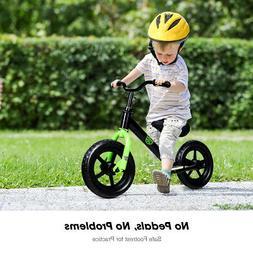 "12"" Kids Balance Bike No Pedal Child Training Bicycle w/ A"