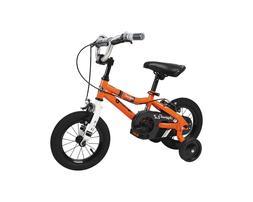 Duzy Customs 12'' Orange Kids Bike With Five Minute Quic
