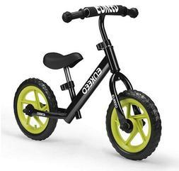 ENKEEO 12″ No Pedal Balance Bike for 2-6Years Old Kids, Ca