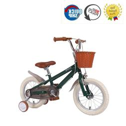 14 16 18 Inch Kids Bike With Training Wheels Gentle Green Fo