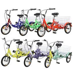 14/16 inch 3-Wheels Bike Bicycle Tricycle Trike W/Basket for