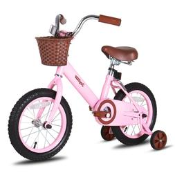 JoyStar 14 Inch Vintage Kids Bike  for Girls with Front Bask