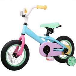 Joystar 14 Inch Macaroon Kids Bicycle with Training Wheels f