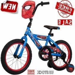"16"" Kids Bike Bicycle Boys Sidewalk Training Wheels Childs M"