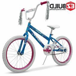 "Huffy 20"" Sea Star Girls' EZ Build Bike, Light Blue & Pink"