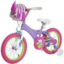 "16"" Dynacraft Trolls Girls' Bike Training Wheels Kids Bike B"