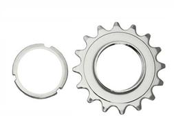 16T Track Fix Cog 3/32 Chrome. Bike cog, bicycle cog for tra