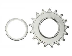 17T Track Fix Cog 3/32 Chrome. Bike cog, bicycle cog for tra