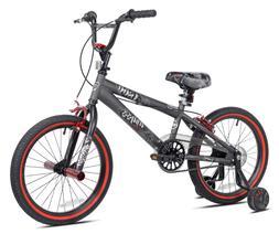 Kent 18 Abyss Boy's Freestyle BMX Bike Charcoal Gray Removab