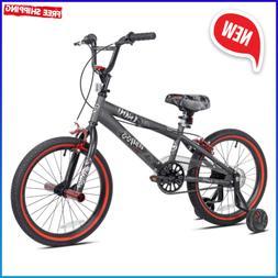 18 inch Abyss Boys BMX Bike Charcoal Gray Training Wheels Ki