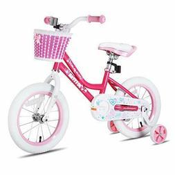 JOYSTAR 18 Inch Pink Kids Bike for Girls, Child Bicycle for