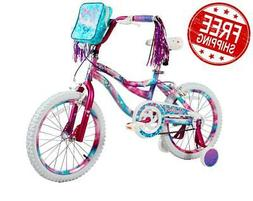 "18"" Kids Bike Girls Wheels Bicycle with Training Wheels Pouc"