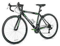 """GMC 19"""" 700c Adult Denali Road Bike 28mm tires Bicycle Black"""