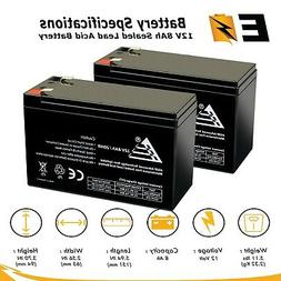 2 packs of 12V 8AH SLA Replacement Battery for Razor MX350 M