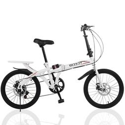 "20"" 7 Speed City Folding Compact Suspension Bike Bicyc"