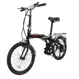 "Xspec 20"" 7 Speed City Folding Mini Compact Bike Bicycle Com"