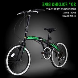 "20"" Folding Bike Foldable Mountain Bike Shimano 6 Speed Bicy"