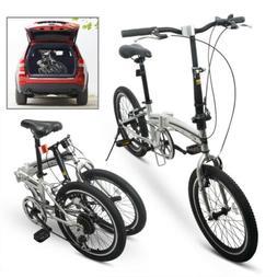 "20"" Folding Bike Sporting Bicycle Shimano Gear Hybrid Foldab"
