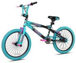 "Kent 20"" Girls Trouble Aqua/black Bicycle"