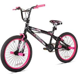 """Kent 20"""" Girls', Trouble Bmx Bike, Black/Pink, For Height Si"""