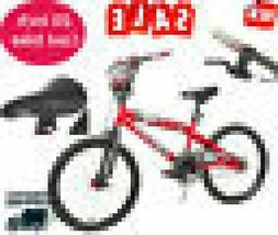 """20"""" Inch Bike Boys Red Freestyle Bmx Steel Frame Bicycle for"""