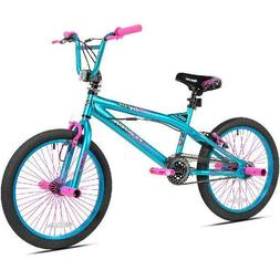 "Kent 20"" Trouble Girl's Bike, Aqua/Pink, For Height Sizes 4'"