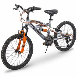 Huffy Kids Bike for Boys, Valcon 20 inch, 6-Speed, Charcoal