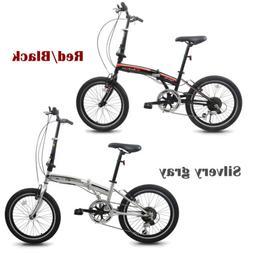 """20"""" Wheel Folding Bike Bicycle Shimano 7 Speeds Gear Steel F"""