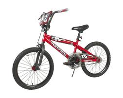 "20"" Inch Bike Boys Red Freestyle Bmx Steel Frame Bicycle for"