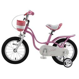Royalbaby RB14-18P Little Swan Girl's Bike with Basket, 14,