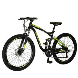 "27.5"" Full Suspension Mountain Bikes Shimano 21 Speed Mens B"