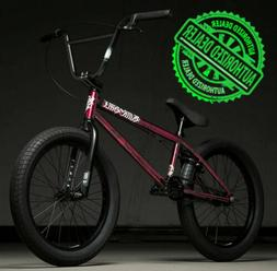 "2020 Kink Curb 20"" Complete BMX Bike 20""TT Gloss Smoked Red"