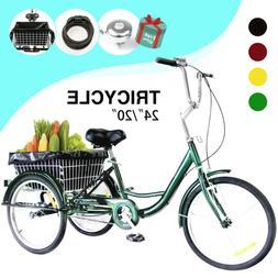 24 20 adult tricycle 3 wheel trike
