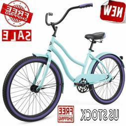 "24"" Cruiser Bike Girls Womens Adults Bicycle Lady 24-inch Wh"