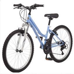 "Roadmaster 24"" Granite Peak Girls Mountain Bike, Light Blue"