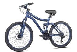 "Kent 24"" Ladies, Bella Vista Bike with Full Suspension, Blue"