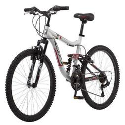 "Mongoose 24"" Ledge 2.1 Boys Mountain Bike, 21-Speed Twist Sh"