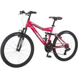 """24"""" Mongoose Ledge 2.1 Girls Mountain Bike Pink Padded Seat"""