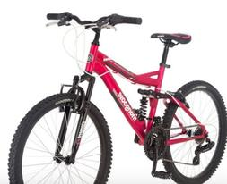 24 Mongoose Ledge 2.1 Girls Mountain Bike, Pink
