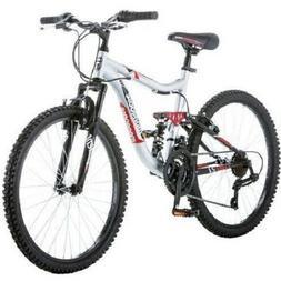 "24"" Mongoose Ledge 2.1 shift 15spd Boys' Mountain Bike, Silv"