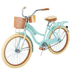 """HUFFY 24"""" NEL LUSSO CRUISER BIKE MINT GREEN WITH BASKET BR"""