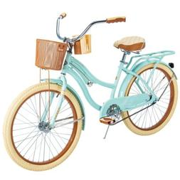 """Huffy 24"""" Nel Lusso Women's Cruiser Bike Mint Green NEW IN"""