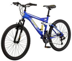 "24"" Mongoose Ravage Boy's Men Mountain Bike Full Suspension"