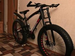 24 Speed Mountain Bike 26 * 4.0 Fat Tire Bikes Shock Absorbe