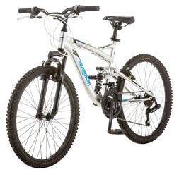 "Mongoose 24"" Status 2.2 Boys Bike-Silver"