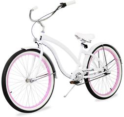 "26"" 3 Speesd Women BEACH CRUISER BIKE Firmstrong Bella Fashi"